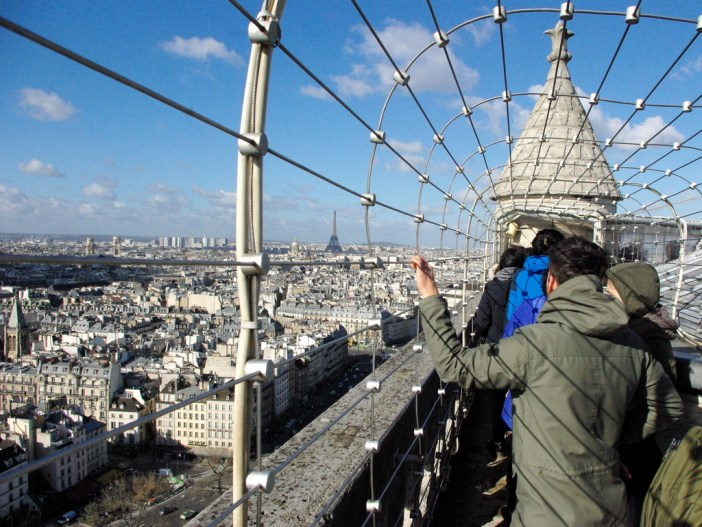 At the top of the South Tower, Notre-Dame cathedral © French Moments