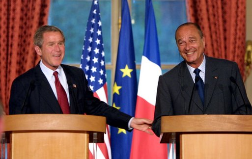 Bush and Chirac [public domain]