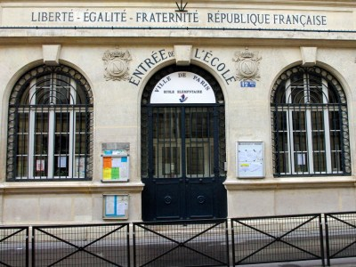 French Motto on School Facade © French Moments