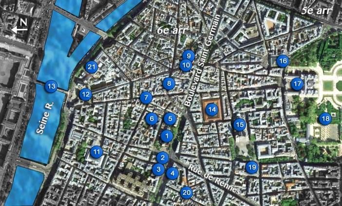 Map Saint-Germain Quarter
