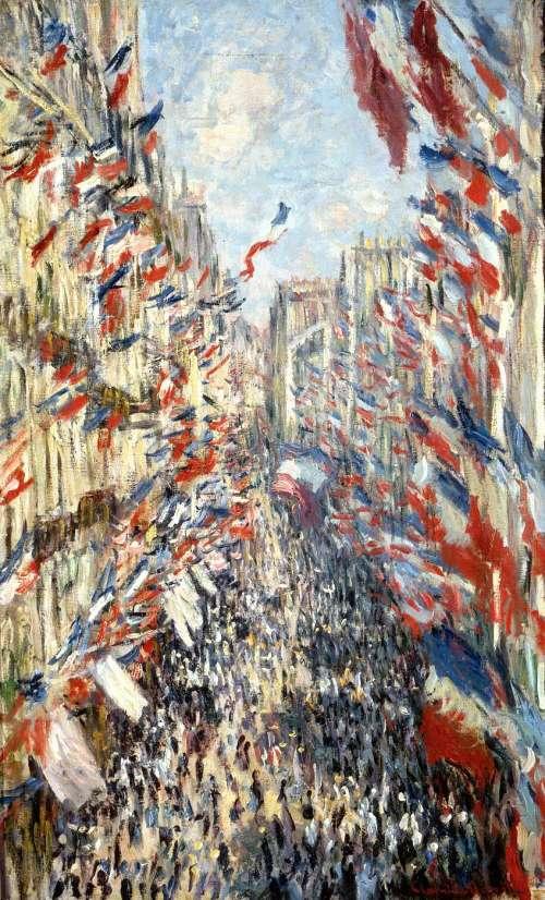 La Rue Montorgueil, Monet 1878