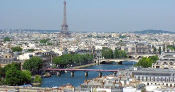 Eiffel Tower and Seine from Tour Saint-Jacques © French Moments