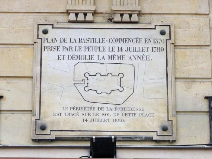 Commemorative Plaque Place de la Bastille © French Moments