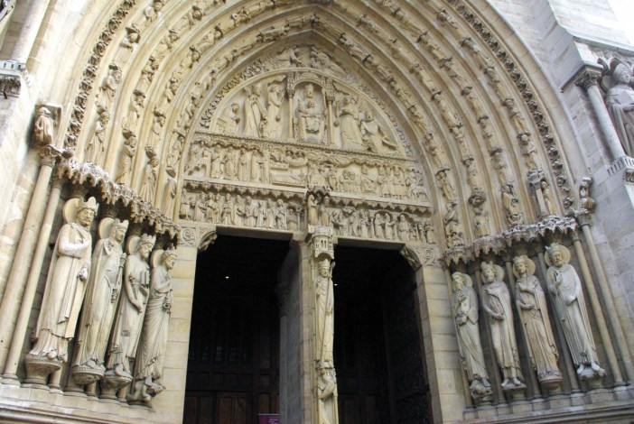Tympanum Portal of St. Anne, Notre-Dame © French Moments