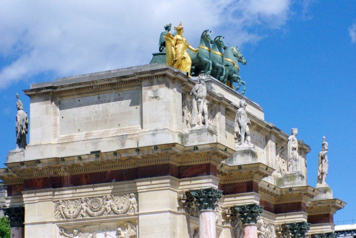 Upper frieze of Arc du Carrousel © French Moments