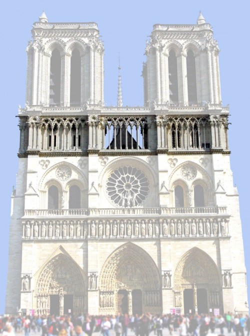 The colonnade, West Façade of Notre-Dame © French Moments
