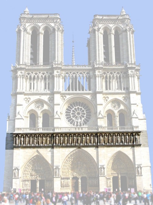 The Kings' gallery, West Façade of Notre-Dame © French Moments