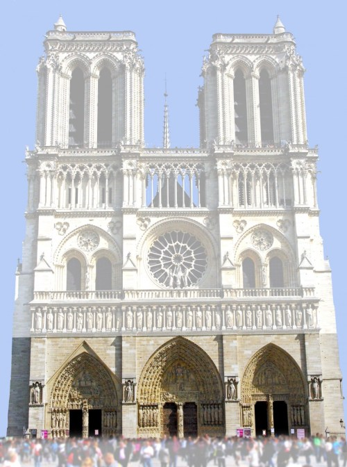West Facade of Notre-Dame Cathedral, Paris - French Moments