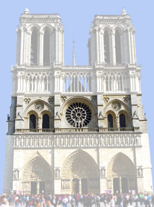 The rose window, West Façade of Notre-Dame © French Moments
