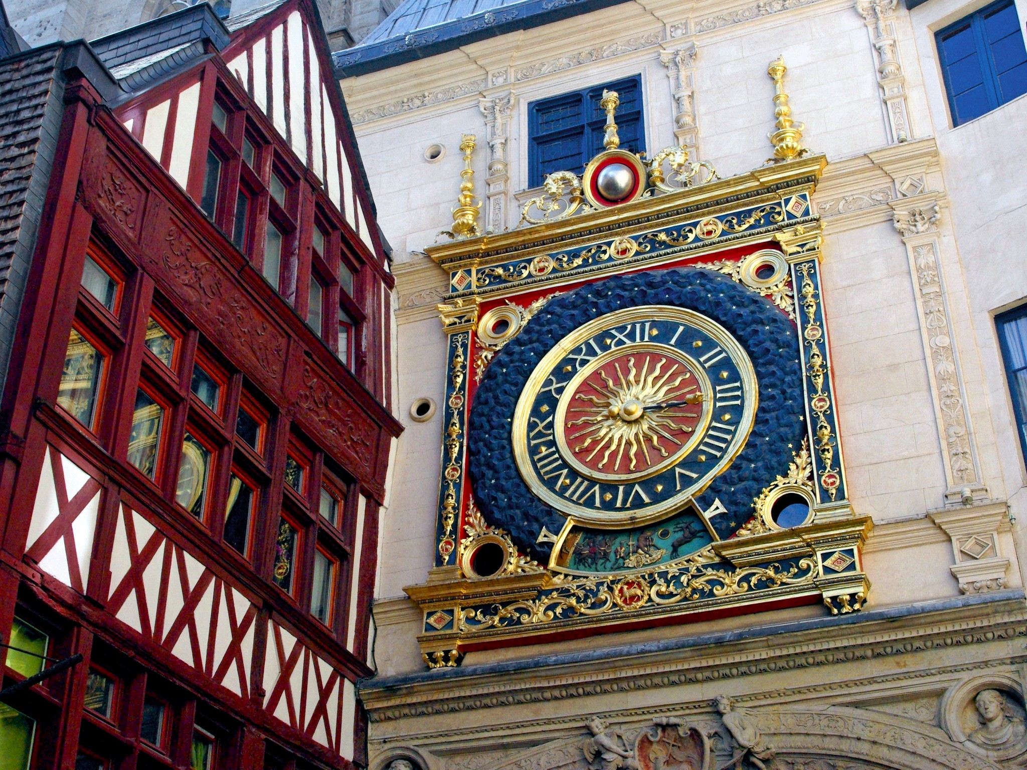 Gros Horloge Of Rouen French Moments