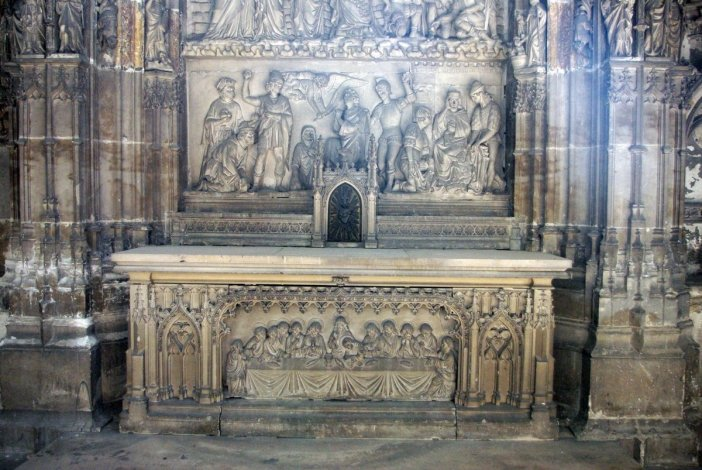 Headstone in Rouen Cathedral © French Moments
