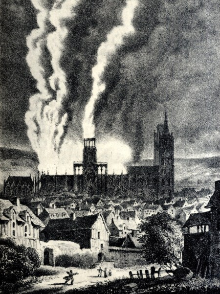 Spire destroyed by fire in 1822