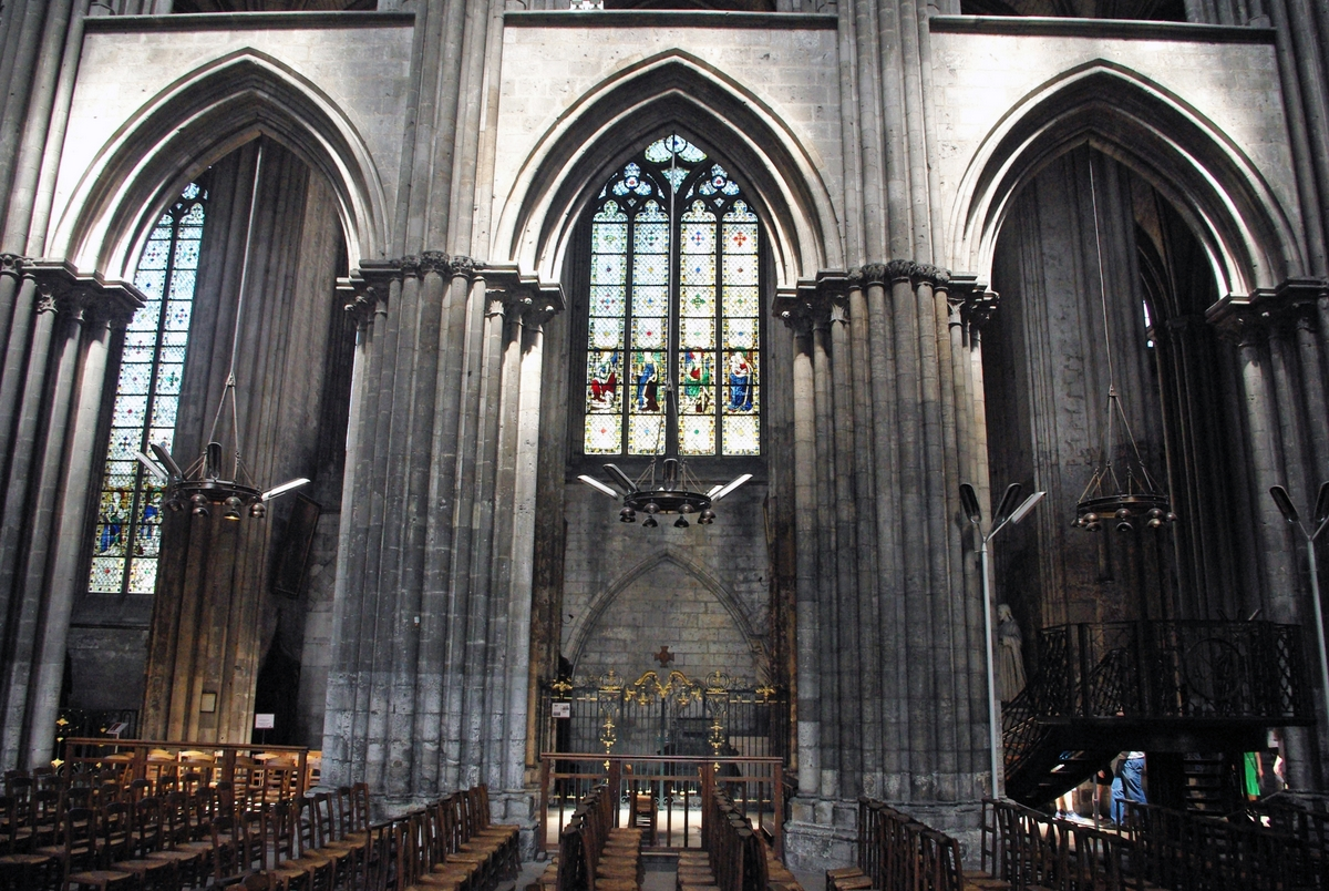 Pointed Arches Of The Nave In Rouen Cathedral C French Moments