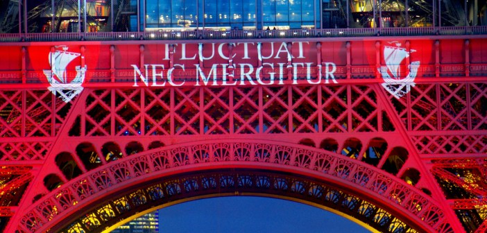 Paris' motto on the Eiffel Tower © French Moments