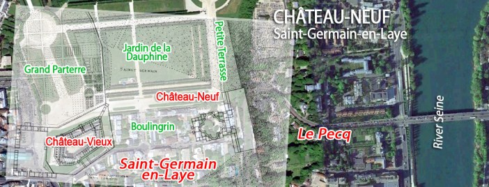 Map of Saint-Germain-en-Laye Chateau Neuf by French Moments