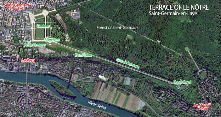 Map of Saint-Germain-en-Laye Terrace of Le Notre by French Moments