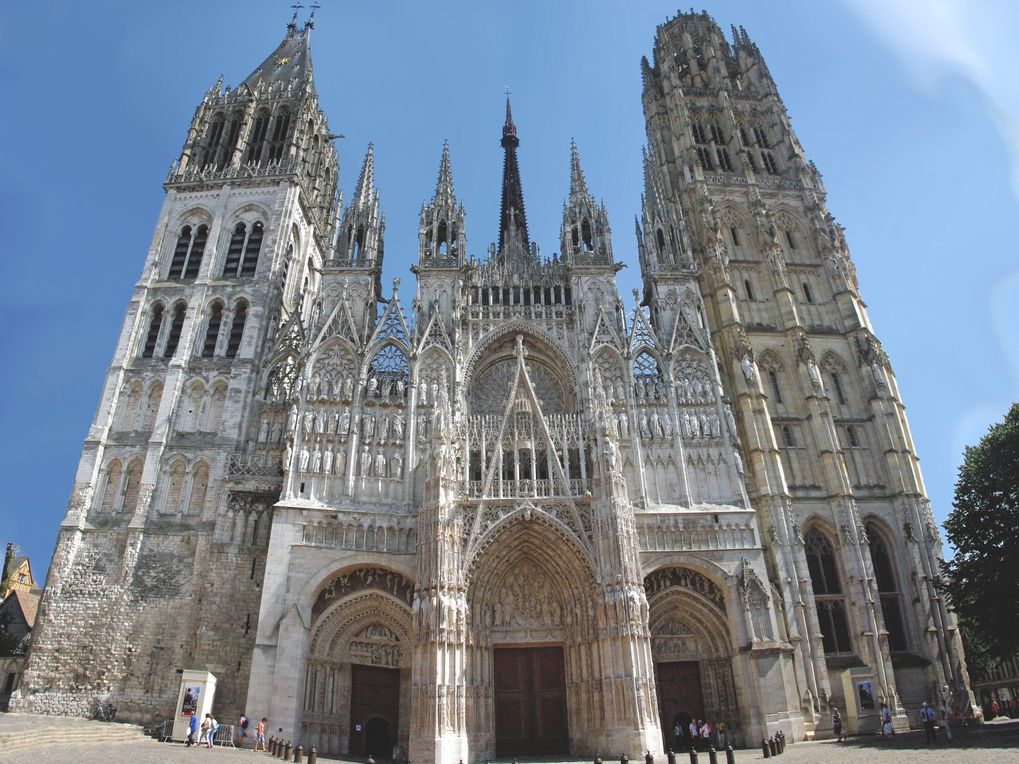 West Facade Of Notre Dame Cathedral Rouen