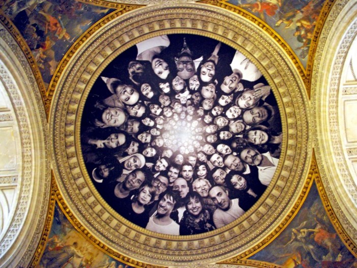 The dome of the Pantheon hidden by JR's work in 2015 © French Moments
