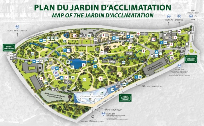 Map of the Jardin d'Acclimatation