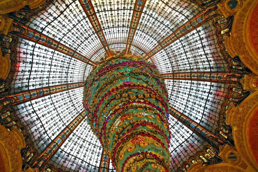 The Art Nouveau Cupola Of The Galeries Lafayette French Moments