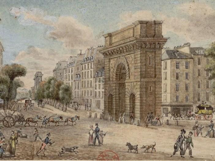 The triumphal arch of porte saint martin in paris french for Porte saint martin