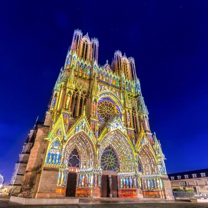 Frédéric Leroux Skertzò Reims Rêve de Couleurs light show