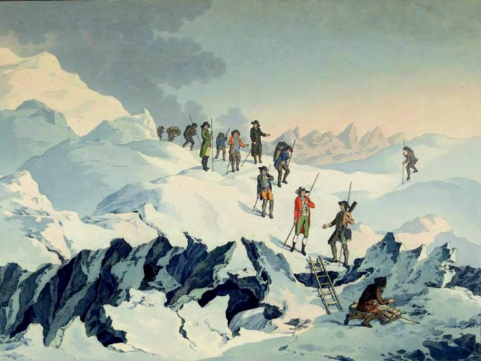 Saussure on Mont-Blanc