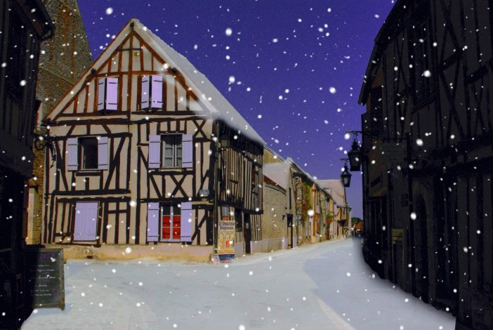 Provins in the snow © French Moments