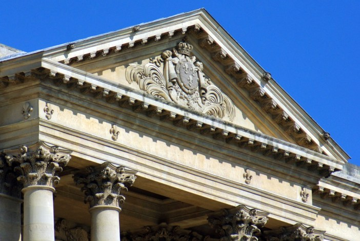 The pediment of the church © French Moments