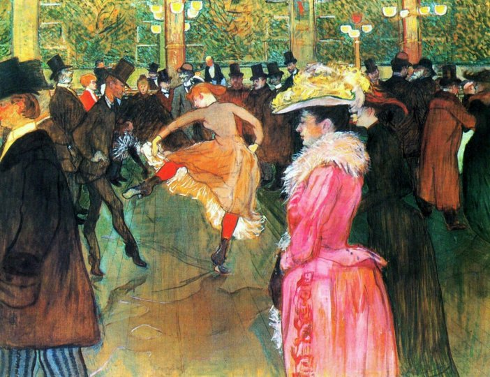 At the Moulin-Rouge. Painting by Toulouse-Lautrec (1889)