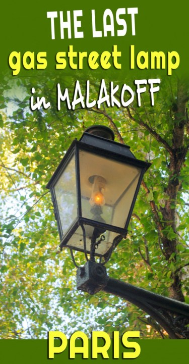 Last Gas streetlamp in Paris © French Moments