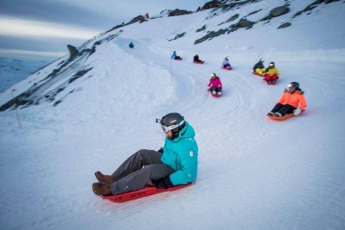 The longest sledging run in Val Thorens © C.Cattin OT Val Thorens
