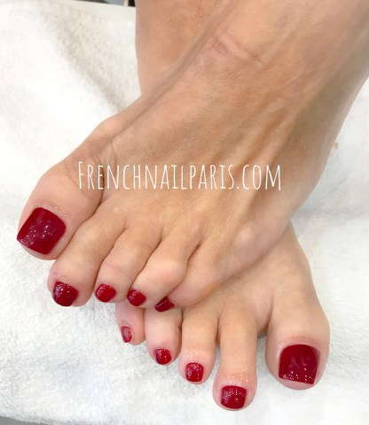 Beauté des pieds avec vernis permanent