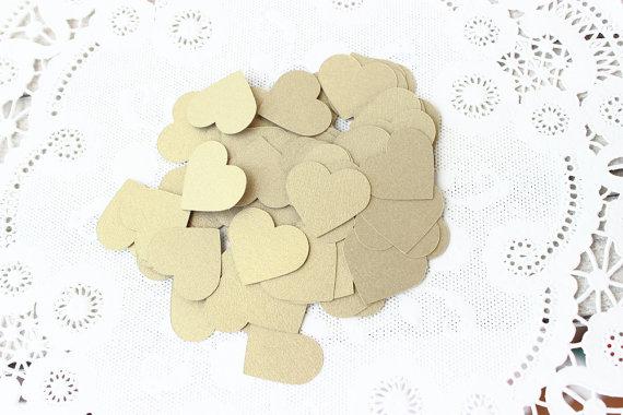 Confettis coeur dorés