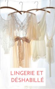 shopping lingerie et déshabillé