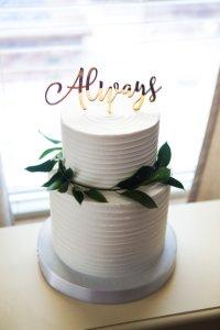 Topper cake calligraphie