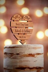Topper cake rustique