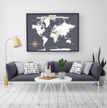 map monde - Idées cadeaux de Noël à petits prix