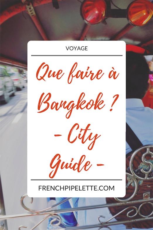 City guide Bangkok