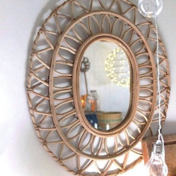 Idées cadeaux pour un Noël responsable_miroir rotin