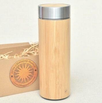 Thermos en bambou personnalisable