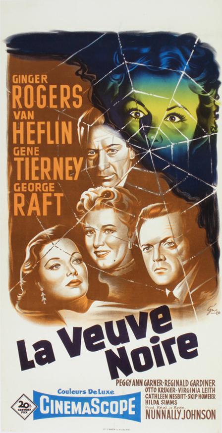 La Veuve Noire Film 1954 : veuve, noire, Veuve, Noire, 40×80, Frenchposter