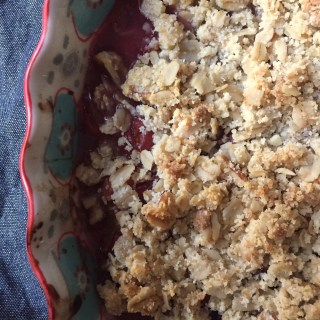 Tart Cherry Crisp + Butler's Orchard