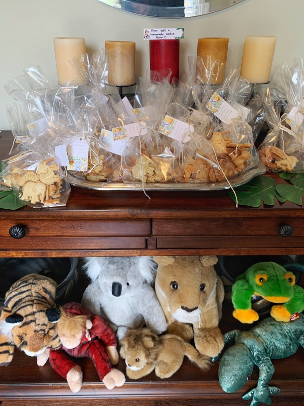 Baby Shower Idea for Customized Cookie Cutouts Jungle Theme