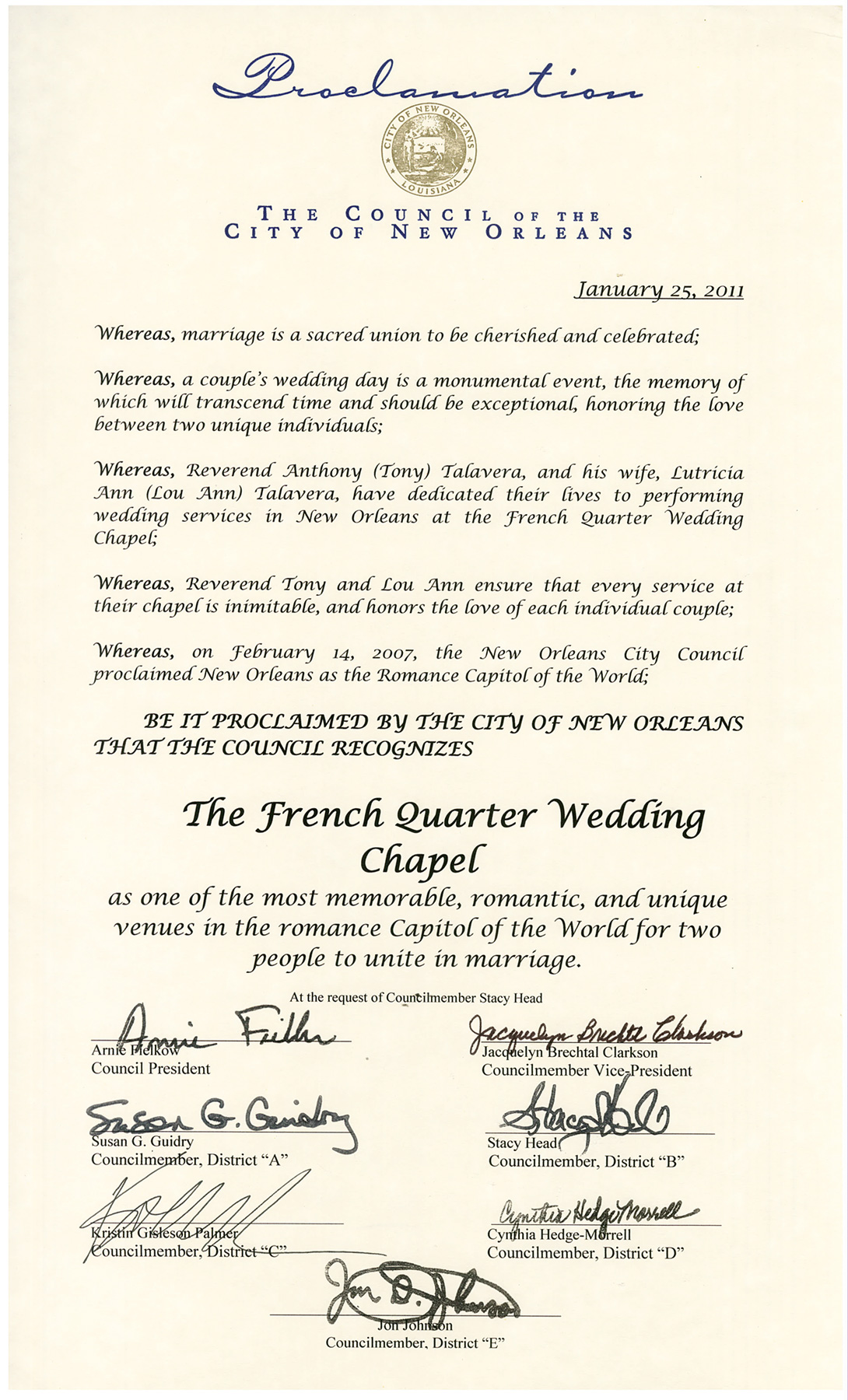 City-of-New-Orleans-Proclamation