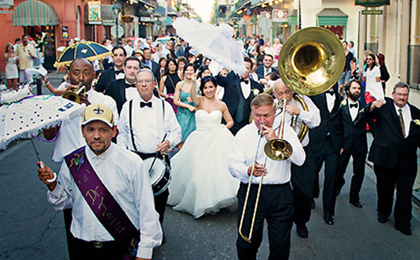 A Guide To The New Orleans Second-Line Wedding Parade