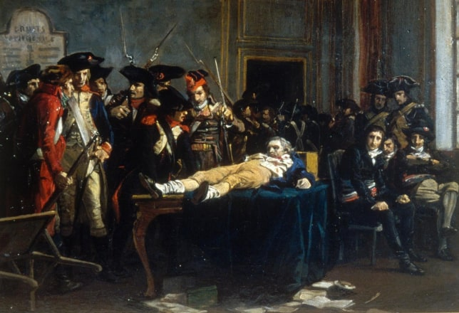 Arrest and execution of Robespierre; End of the Terror.