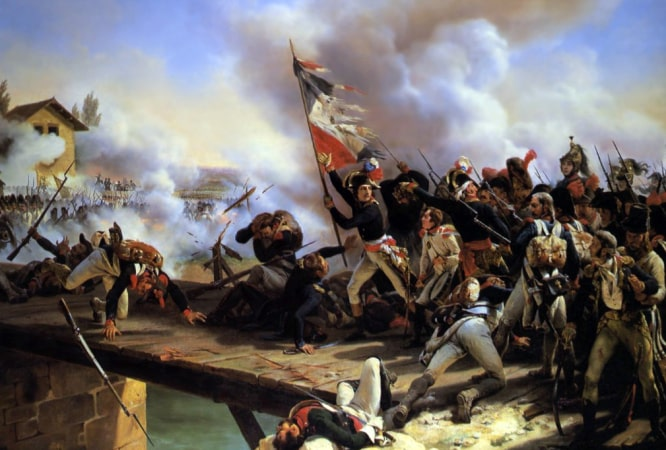 Napoleon's ultimately victorious campaign.