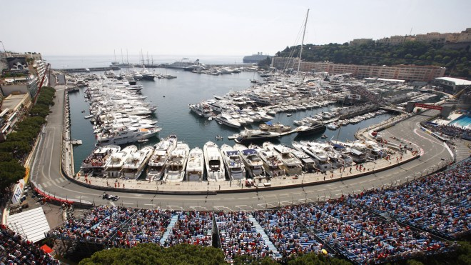 Yachts in the Port of Monaco for the Monaco Grand Prix