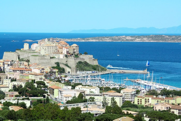 Calvi on the Mediterranean island of Corsica